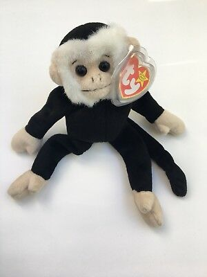 TY BEANIE BABY MOOCH Monkey Capuchin Kid s Toy Plush With Tags ... 7b00d4f2f5a
