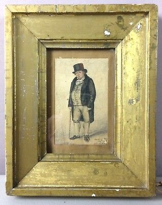 1818 ENGLISH WATERCOLOR - LAWYER'S PORTRAIT__Orig Signed & Framed____SHIPS FREE