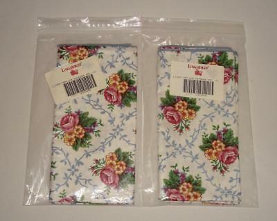 4 Longaberger Mother's Day Napkins NEW in Packages! 2 Per Package! Excellent!