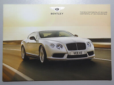 V01215 Bentley Continental Gt V8S Coupe & Convertible