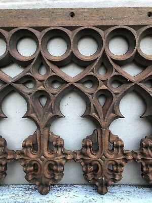 AUTUMN SALE !!! Stunning French Gothic Tracery panel in wood circa 1880 (2)