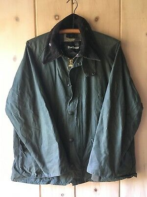 Barbour Mens Jacket Bedale Green Waxed Field Coat