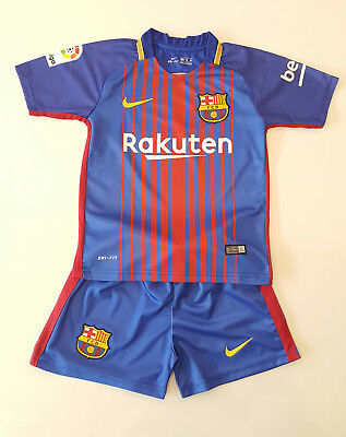 FC Barcelona Home Messi Trikot Kinder Set 2017/18, Nr.10, Neu