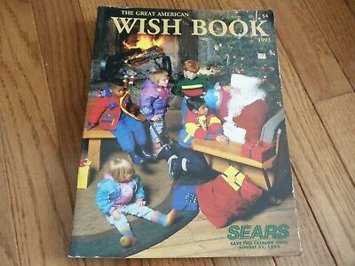 Vintage SEARS 1992 Wish Book CHRISTMAS CATALOG Toys Electronics COLLECTORS