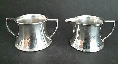 Antique 1881 Rogers Silverplate Creamer and Sugar Bowl # 1639