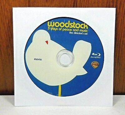 Woodstock Three 3 Days of Peace Music 1970 - Disc Only (Blu Ray) Directors Cut