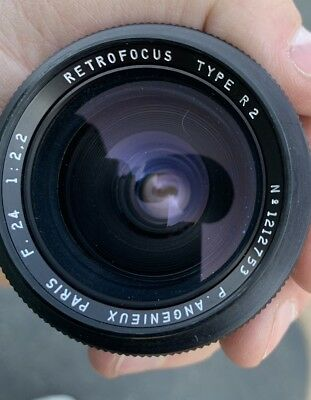 angenieux 24mm f/2.2 type r2 retrofocus lens head paris 1212753