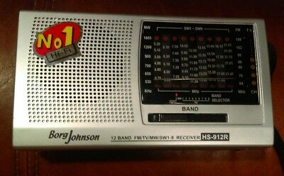 Borg Johnson 12 Band FM/TV/MW/SW1-9 Receiver HS-912R Tested Works