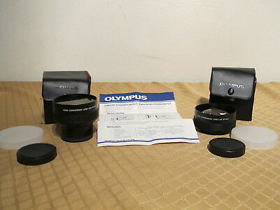 Olypus Video Teleconversion Lens Vf-Kl2 & Wide Vf-Kl3 Mint Condition