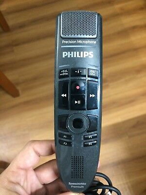 Phillips SMP3700 SpeechMike Precision Microphone USB cord recording media