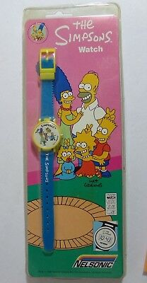 NEW SEALED THE SIMPSONS Vintage 1990 Nelsonic Digital Wristwatch Watch NIP