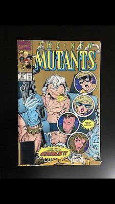 THE NEW MUTANTS # 87 GOLD Cover Marvel comic book
