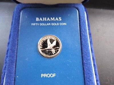 1981 $50 Gold proof Bahamas coin