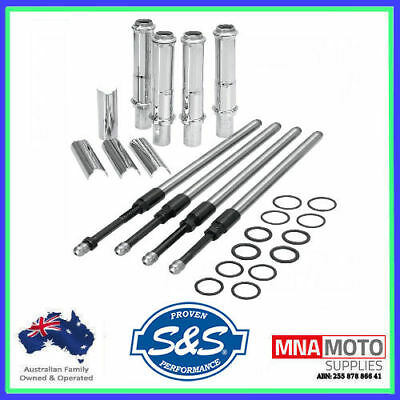 S&S Quickee EZ Install Adjustable Pushrods Cover Kit 1999-2017 Harley Twin Cam