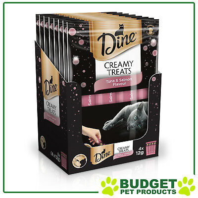 Dine Creamy Treats Tuna And Salmon Paste Treat For Cats 12gm x 32