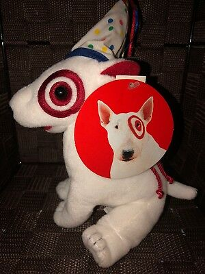 Target BULLSEYE Plush Dog In Birthday Costume- Excellent W/ Original Tags