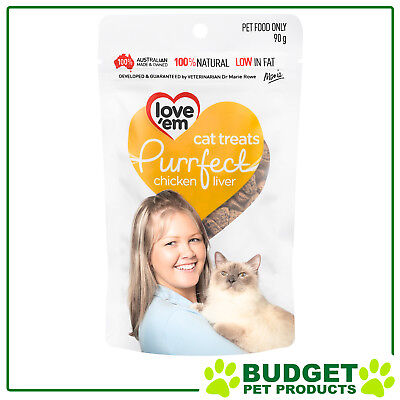 Love em Purrfect Chicken Liver Treats For Cats 90gm