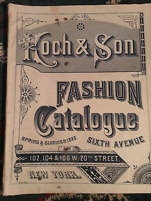Vintage Koch & Son Fashion Spring Summer Catalog 1883 Men's,Women's Children