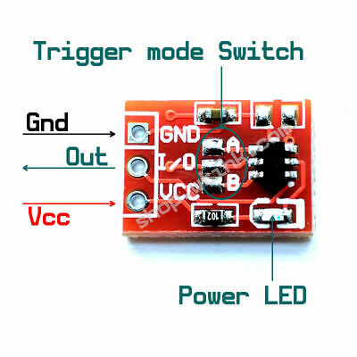 TTP223 Capacitive Touch Key Module 4-Lock Settable mode Switch Board
