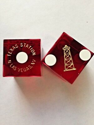 ****texas Station Hotel&casino****n.las Vegas ****pair Of Red Dice****
