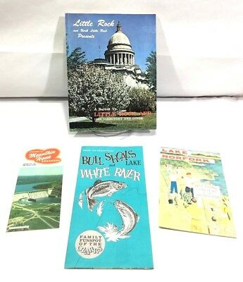 1962 Little Rock AFB DIRECTORY AND GUIDE & Arkansas OZARKS Recreational Brochure