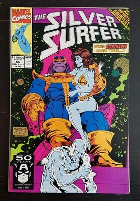 Silver Surfer #56 (1991 Marvel) *infinity Gauntlet Crossover* Nm
