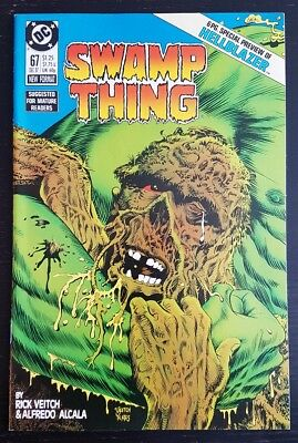 Swamp Thing #67 (1987 Dc) *constantine Hellblazer Preview* Nm-