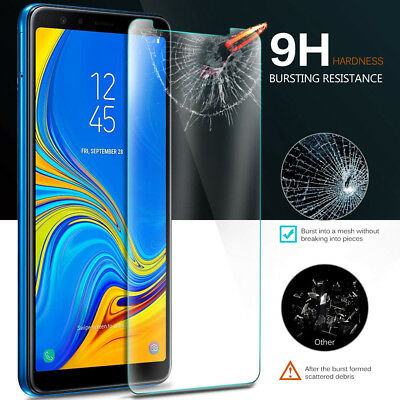 3Pcs Tempered Glass Screen Protector For Samsung Galaxy J8 A7 A6 J6 J4 Plus 2018