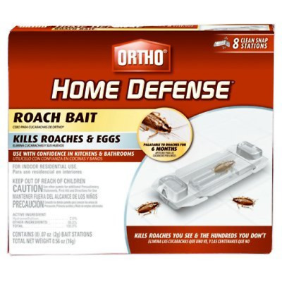 Roundup Scotts Ortho 217231 Home Defense Roach Bait - Pack of 8