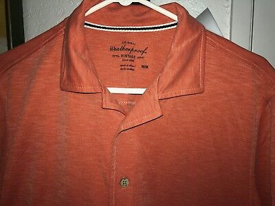 """Men's Vintage Shirt - Size Medium - By """"weather Proof"""" - Sexy Cling Fabric"""
