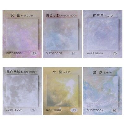 Cute Planets Series Paper Self-Adhesive Memo Pad Sticky Notes Student Stationery