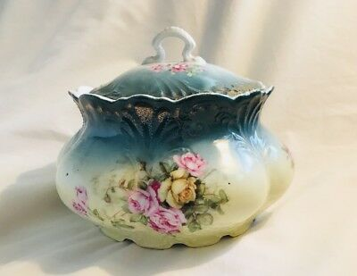 Antique Tureen Silesein Germany Porcelain Floral With Lid