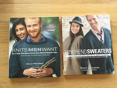 KNITTING BOOKS, Knits Men Want and Boyfriend Sweaters, Excellent Condition.