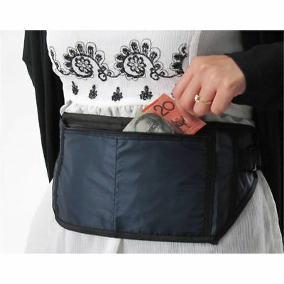 2 X New Travel Pouch Security Waist Money Passport Belt Bag hidden Wallet