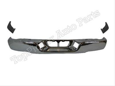 Rear Bumper Face Bar Chrome Extension Side Pad W/O Sensor For Tundra 2007-2013