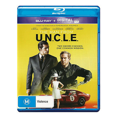 The Man From U.N.C.L.E. Blu-ray Brand New Region 4 Aust.  UNCLE -  Henry Cavill