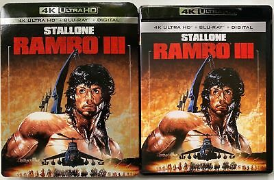Rambo Iii 4K Ultra Hd Blu Ray 2 Disc Set + Slipcover Sleeve Sylvester Stallone