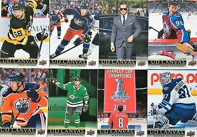 🚨U PICK FROM LIST /CHOiSiS CARTE🚨 2018-19 Upper Deck CANVAS Series 1 & 2 UD