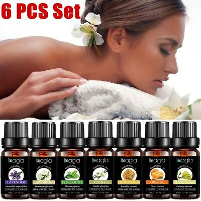Set of 6 Essential Oils -100% Pure Natural Plant Aromatherapy Kit 10ml Gift AU