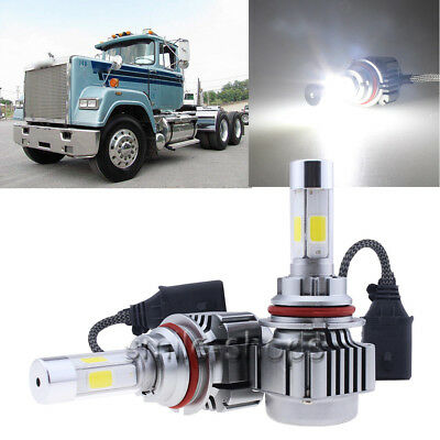 9007 HB5 120W LED Headlights Headlamp Bulbs Kit For Mack RD CH SFA MACK CH600
