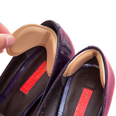 2x Sticky Fabric Shoes Back Heel Inserts Insoles Pads Cushion Liner Grips HighHV
