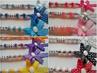 Personalised Dummy Clips And Bow Dummy Clips, Polka Dot Range