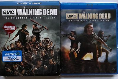 New The Walking Dead Complete Eighth Season Blu Ray 5 Disc + Slipcover Sleeve