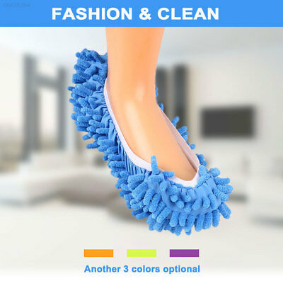 9CAE D18F 1Pair House Floor Cleaning Mop Slipper Removable Washable Dust Cleaner