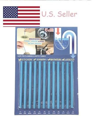 Sani Sticks 24 Pack Keeps Drains And Pipes Clear And Odor Free BLUE MarineFlavor