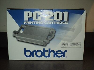 NEW & Sealed Genuine Brother PC201 Black Toner Cartridge MFC 1770 Fax 1010 1020