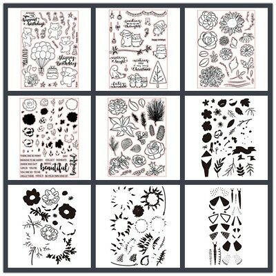 New Design Floral Stamp Silicone Clear Rubber Transparent Paper Card Making DIY