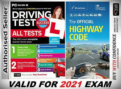 2019 Driving Theory Test & Hazard test CD Rom DVD Highway Code Book Car,llj*AtH*