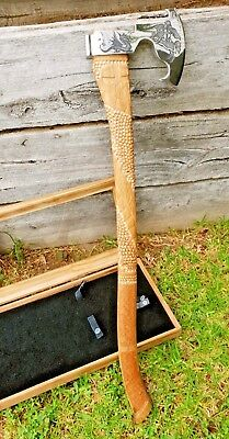 Saint George the Dragon Slayer custom hand crafted hunting medieval battle axe