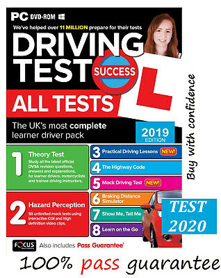 Driving Theory Test & Hazard Test - CAR. PC DVD CD ROM -NEW 2019 EDITIO*atpc